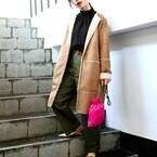 一足早く春の予感にときめくファッション☆グリーンカラーが爽やかなチノパンコーデ♪