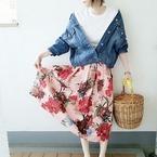 【ZARA&GU】のプチプラで春を先取り♪春色フェミニン大人女子コーデ!