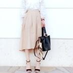 GUのスカート♡春に着たいのは《デニムスカート》or《ベージュスカート》?