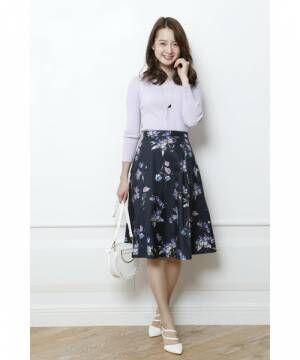 花柄フレアスカートで作る♡春ど真ん中の大人可愛いコーデ集まとめ