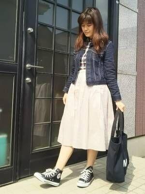 気軽に取り入れられる♡ユニクロのフレアスカートを使った大人女性コーデ集