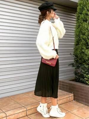 軽やかに春らしく♪GUのプリーツスカートで作るプチプラ大人可愛いコーデ♡