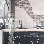 コンクリート&モルタル壁を簡単に実現♡壁紙を使って旬のインテリアに