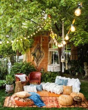 お庭ピクニックをもっと楽しく☆ガーデンインテリアのポイント&おしゃれな実例集