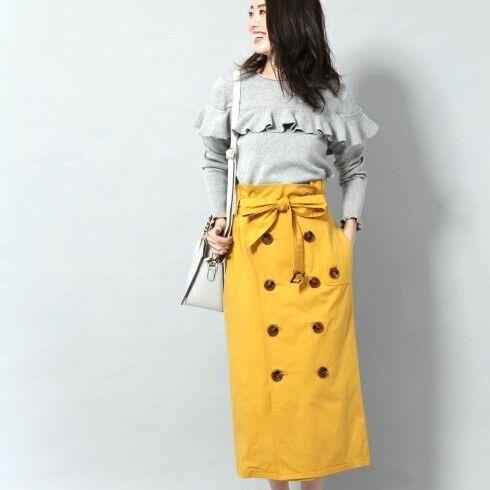 あると便利な春アイテム!この春ゲットするべき「トレンチスカート」コーデ集♡