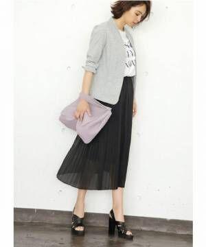 シフォン素材でふわっとガーリーに♡春スカートで大人可愛いを叶えよう!