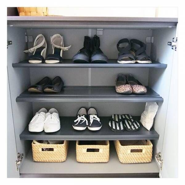 お出かけ前のバタバタをなくそう!すっきり見せる靴箱収納のアイディア8選