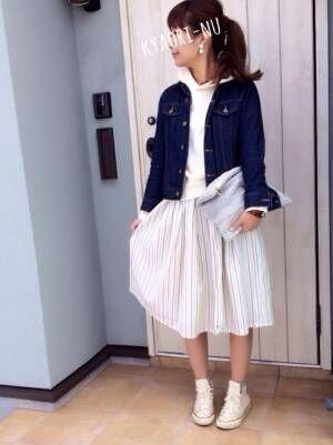【しまむら】のスカートで作る春コーデ♡今すぐ取り入れられる大活躍アイテム!