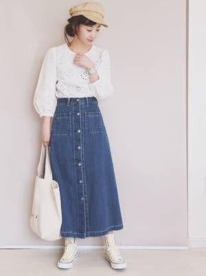 大人女子におススメ!GU の春スカート&今から使える素敵コーデをご紹介☆