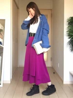 素敵に着こなそう!ユニクロ・GUのスウェットでおしゃれスカートをカジュアルダウン☆