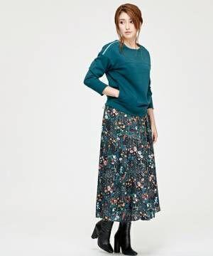 パッとコーデを華やかに♪買い足したくなる大人の花柄スカート集