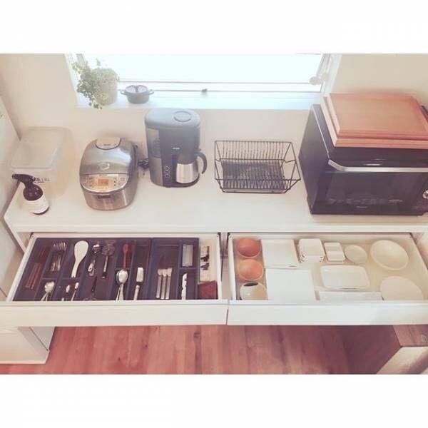 スッキリとした収納を実現!キッチンの引き出し収納実例15選