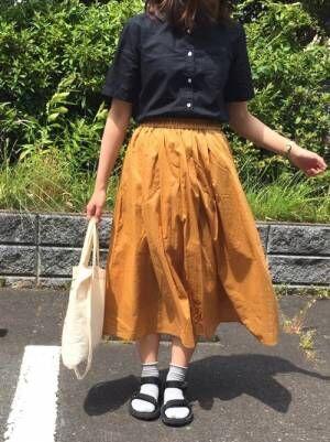 【ユニクロ】で作る!春らしいハイウエストコットンスカートの着回しコーデ集