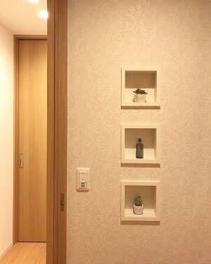 おしゃれなニッチ特集♪部屋の雰囲気に合った形のニッチを考えよう