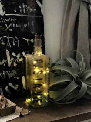【連載】セリアのコルク栓LEDライトと空き瓶で照明を簡単リメイク♬