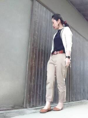 【ユニクロ】のチノパンで脱マンネリコーデ☆ベーシックアイテムの着こなし方!