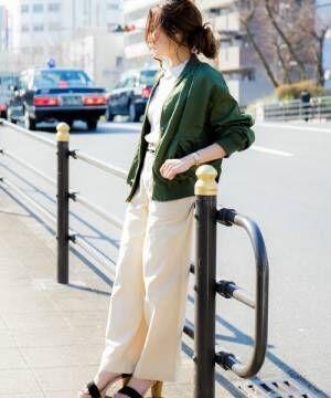 スパイシーなミリタリージャケットを投入♪春におすすめの着こなし術をまとめました♡