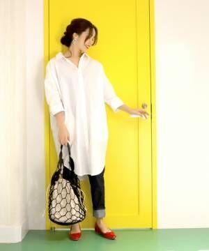 きちんと感とさっぱり感を。春コーデに使いたいのは《白シャツ》!
