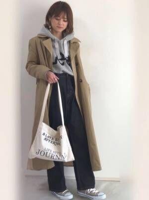 春に活躍する定番アイテム♡〈スタイル別〉パーカーを取り入れた大人女子コーデ集♡