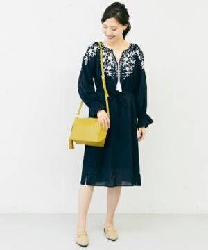 季節感をちょい足し♪イエローのショルダーバッグを使った春の大人女子コーデ♡