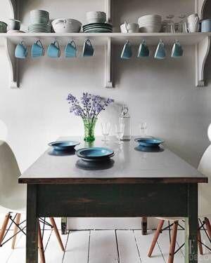 ホワイト&ブルーのハイセンスなインテリア15選☆涼し気で洗練されたお部屋に