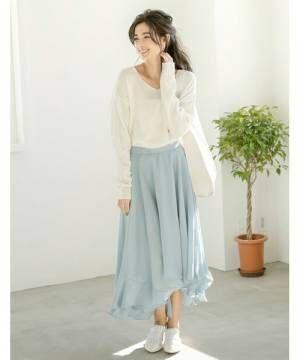 大人のロングスカート講座♡長め丈のスカートはどうオシャレに着こなす?