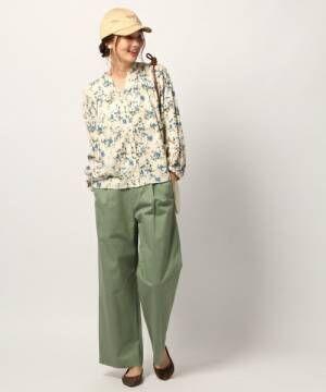春の緑をイメージして♪グリーンのパンツでこなれコーデを叶えよう