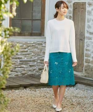 エレガントに女子力UP♡「レーススカート」で作る春の華やかコーデ
