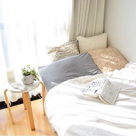 カバーを変えるだけで簡単☆ベッドルームをイメージチェンジ&グレードアップ