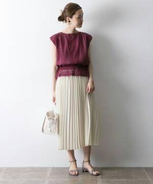 春はホワイトスカートが可愛い♡ホワイトスカートを使った大人のフェミニンコーデ集♪