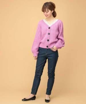 盛り袖カーディガンで作る春コーデ15選♡トレンドのデザイン&着こなしでもっとオシャレに
