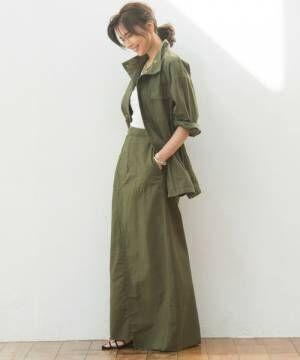 大人っぽさをアピールできる《ミリタリージャケット》の使い方15選◆
