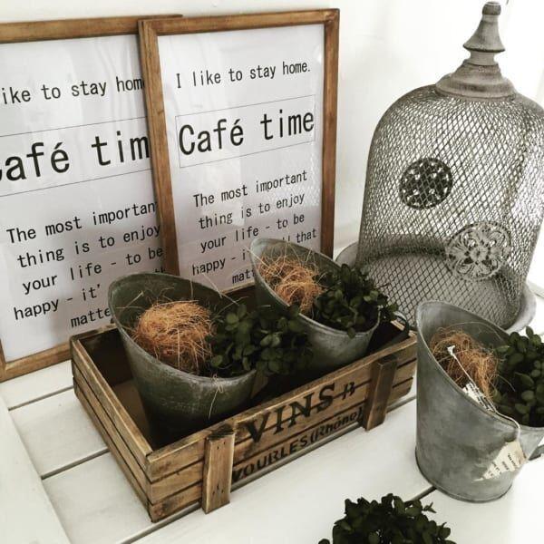 家の中にシャビーな空間を♡植物とブリキアイテムで作る実例集