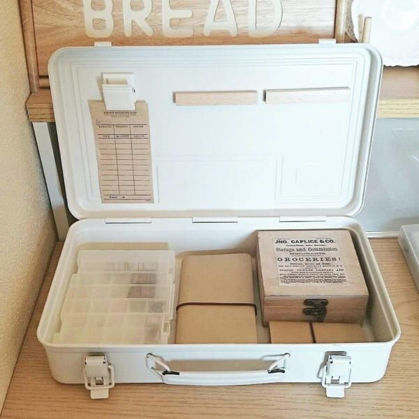 【無印良品】のスチール工具箱収納実例集!インテリアに溶け込む質感とデザインが人気☆