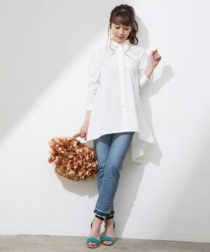 一枚あると便利なアイテム♪きちんと感が出る「白シャツ」で爽やか春コーデ