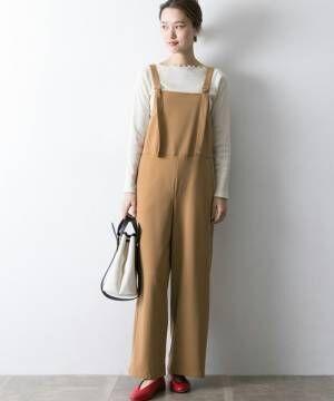 簡単おしゃれ見え!《オールインワン・サロペット》+パンプスで品よく大人スタイルに!
