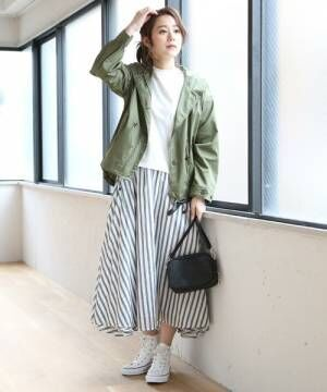 《柄物スカート》でパッと目を惹く魅力的な着こなし♡花柄・チェック柄・ストライプ柄を中心にご紹介!