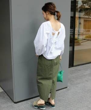 春夏も袖コンシャスに夢中!盛り袖トップスでトレンドライクな着こなしに♪