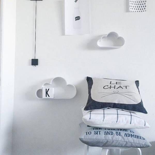 可愛らしいおしゃれなワンポイント!フライングタイガーの雲シェルフをお部屋に飾ろう♡