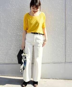 春カラーはニットトップスで取り入れて♡大人のカラーアイテム着こなし術