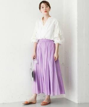 歩くたび揺れるシルエットに視線を集めて♪スカートで作る春の大人女子コーデ♪