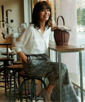 デコルテ周りをキレイに見せる♡Vネックシャツ&ブラウスで作る春コーデ