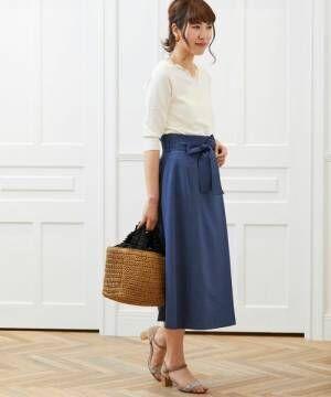 エレガントで女性らしい♡オトナ女子のラップスカート春コーデ15選