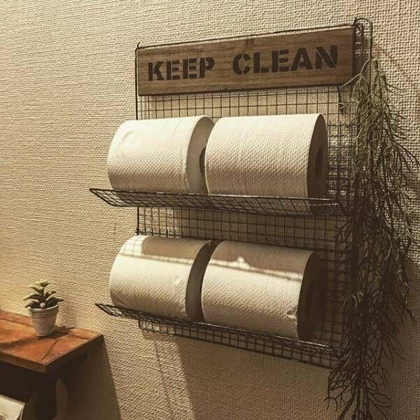 トイレをすてきな空間に!トイレットペーパーをおしゃれに収納しよう