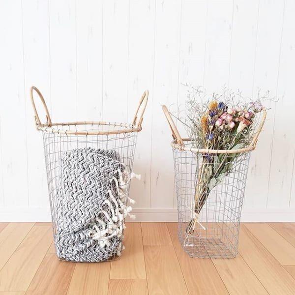 見せたい収納!「ワイヤーバスケット」を使った素敵な収納&活用法をご紹介