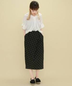 トレンドを楽しもう♪ドット柄のスカート&ワンピースが幼くならないコツ!