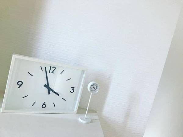 無印良品の「公園の時計」がシンプルでかわいい♪お手本にしたいインテリアディスプレイ8選