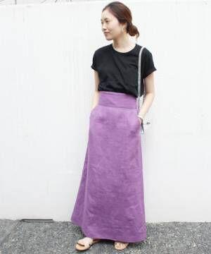 涼しげコーデにぴったり☆これからの季節にマストなリネンスカートをチェックしよう!