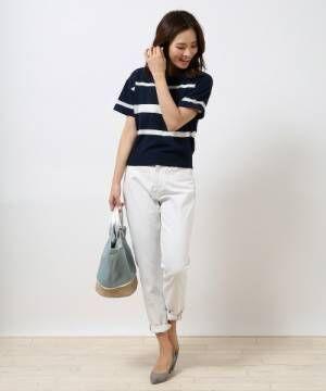 春にピッタリのホワイトデニムを穿きこなす!大人の素敵なコーディネート15選