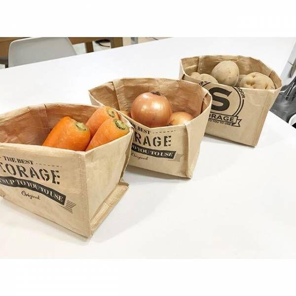 100均グッズで冷蔵庫も常温保存もすっきりと♪綺麗で整頓された野菜ストック実例